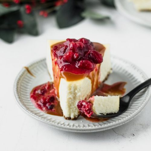Cranberry Caramel Cheesecake
