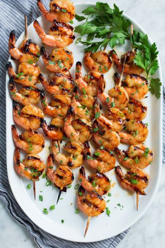 Grilled Shrimp {with Honey Garlic Marinade}