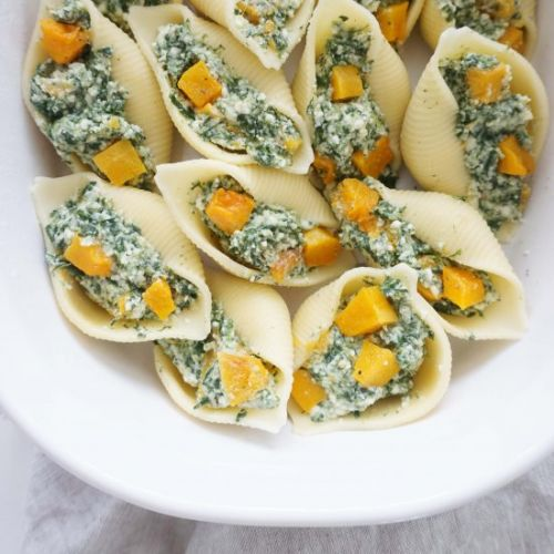Pasta shells with butternut squash