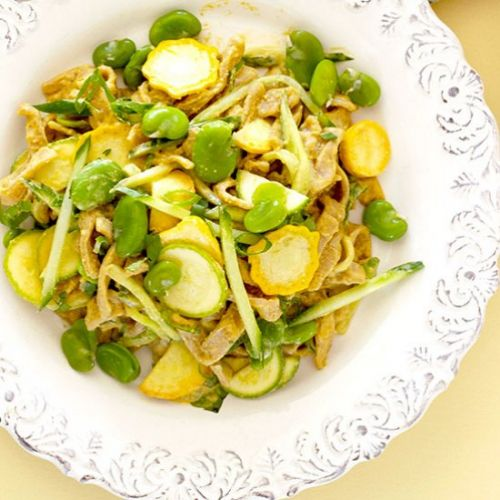 Taiwanese fava bean cold noodles
