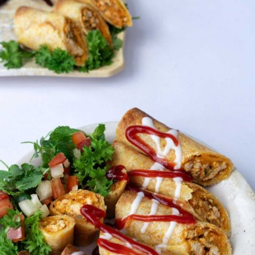 Baked Chicken Taquitos Recipe