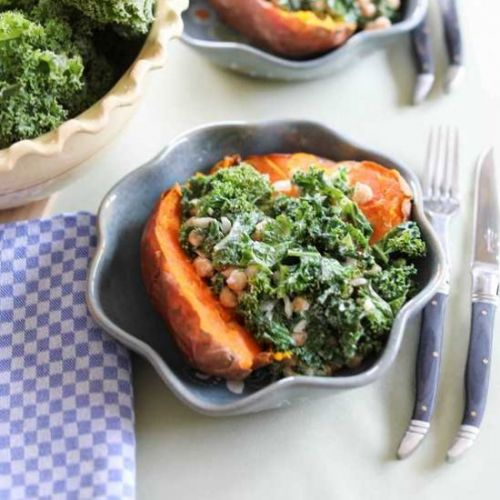 Loaded Sweet Potato with Kale