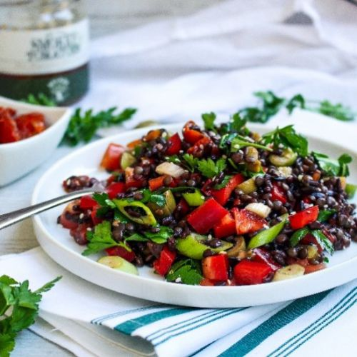 Black Rice and Lentil Salad