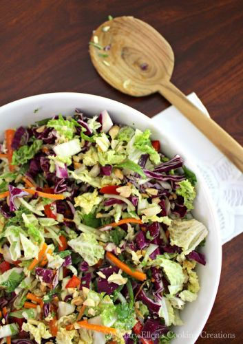 Asian Coleslaw with a Peanut-Lime Dressing