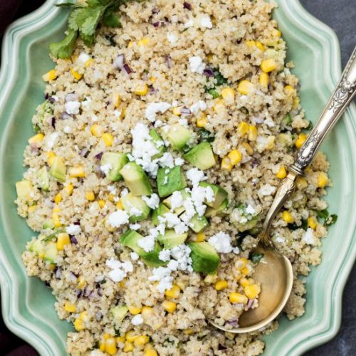 Quinoa Avocado Salad with Corn