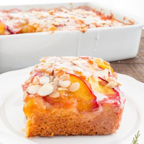 Nectarine-Almond Coffee Cake