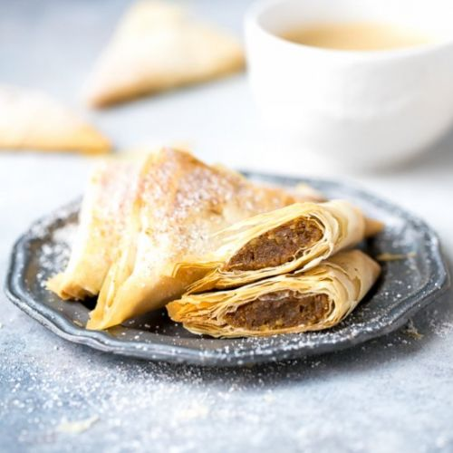 Pumpkin Phyllo Triangles