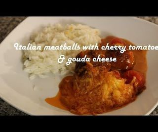 Italian Meatballs With Cherry Tomatoes & Gouda Cheese Recipe