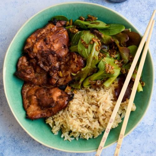 Sweet Chilli Soy Chicken Bowls