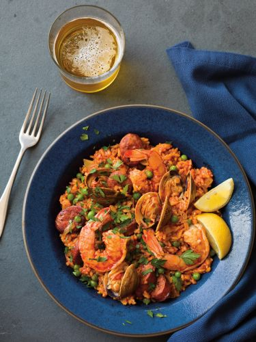 Instant Pot Chorizo and Seafood Paella