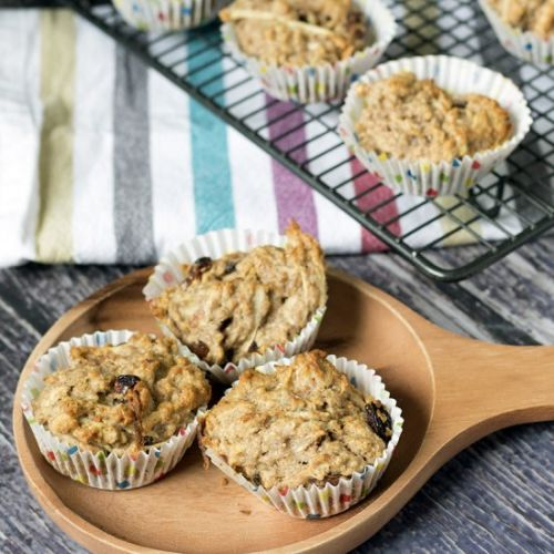 Parsnip, apple and oat muffins
