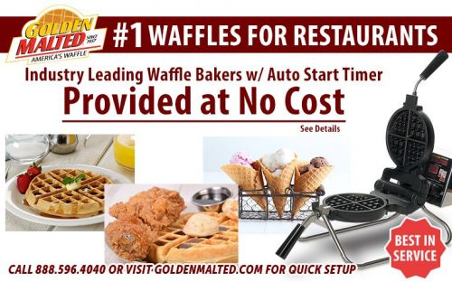 Add America's 1 Waffles to Your Menu - Waffle Irons Provided at No Cost with Golden Malted