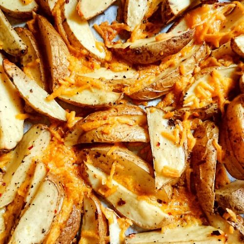Spicy Cheesy DairyFree PotatoWedges