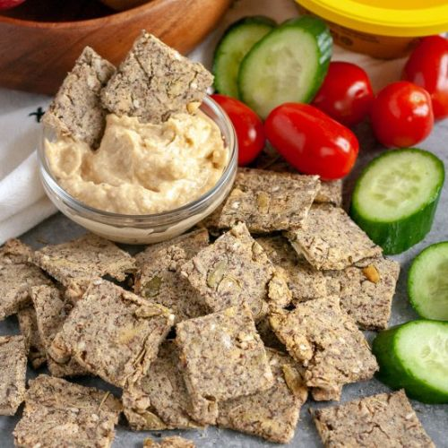 Seeded Quinoa Crackers