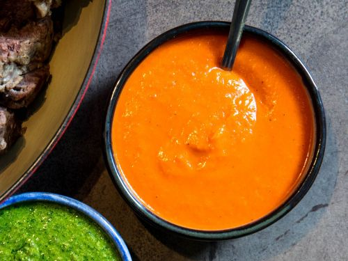 Italian Salsa Rossa (Tomato and Bell Pepper Sauce for Boiled Meats)