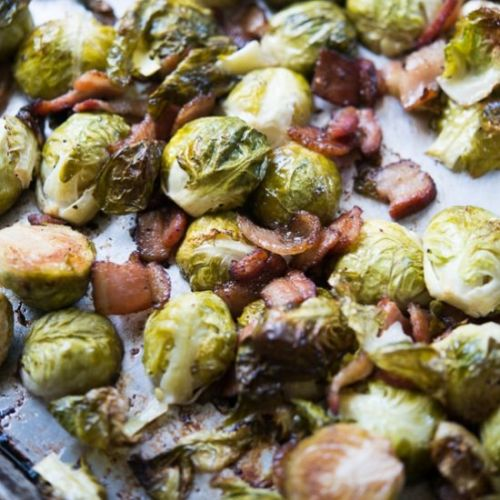 Sheet pan roasted brussels sprouts