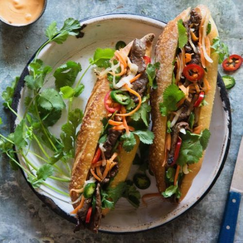 Grilled Beef Banh Mi