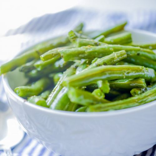 Lemon Basil Green Beans