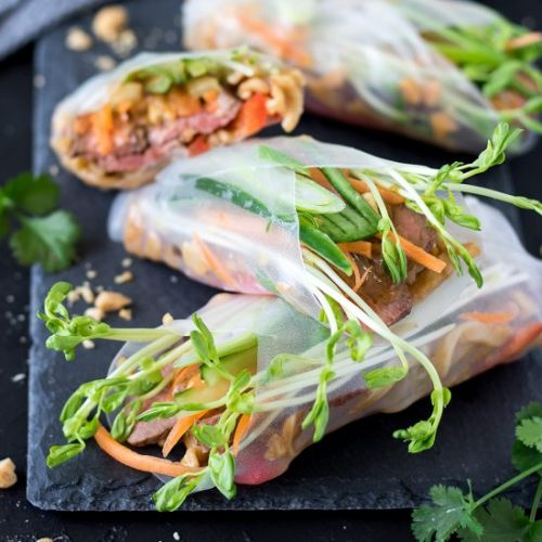 Steak Summer Rolls