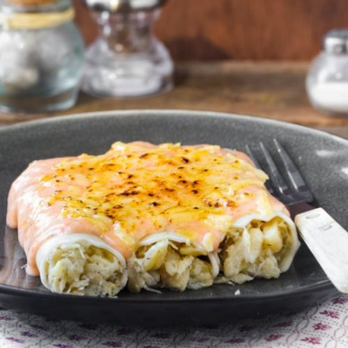 Cannelloni with cod brandade