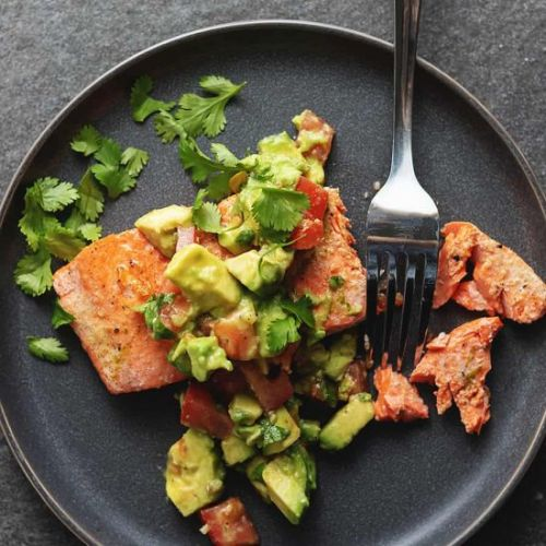 Pan Seared Salmon and Avocado Salsa