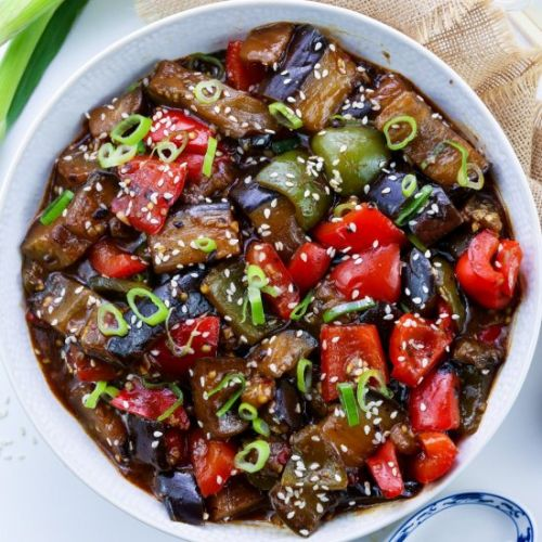 Chinese Aubergine & Peppers