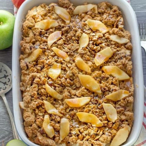 Caramel Apple Streusel French Toast