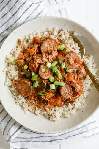 Slow Cooker Chicken and Sausage Creole