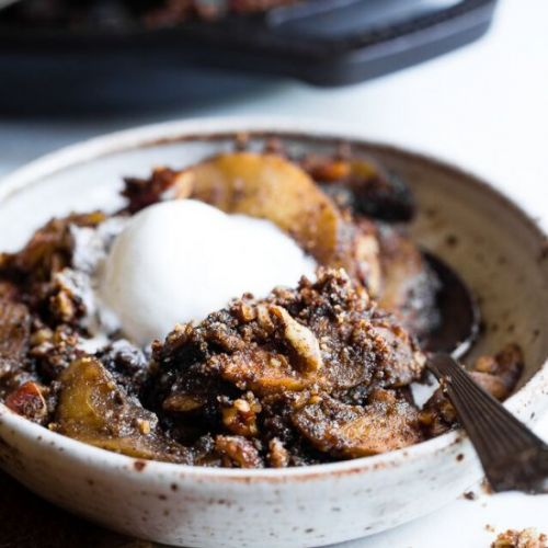 Paleo Vegan Pecan Apple Crisp