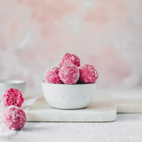 RAW COCONUT BEET BLISS BALLS
