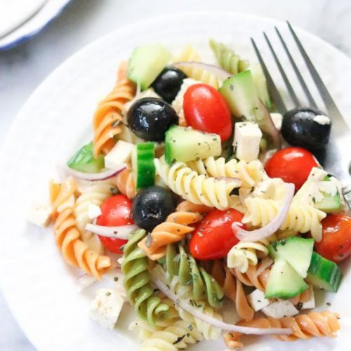 Vegan Pasta Salad with Tofu