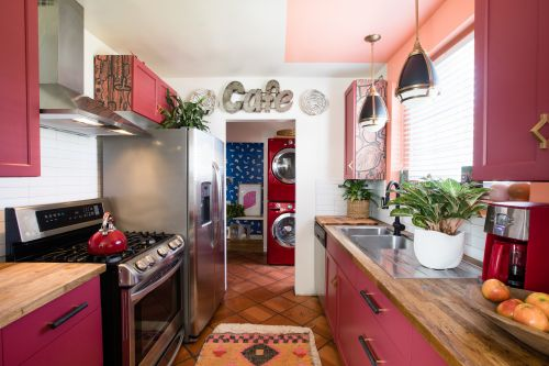 This Kitchen Has the Most Fun Breakfast Nook We've Ever Seen