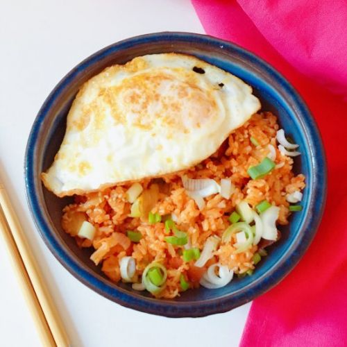 Korean Kimchi and Bacon Fried Rice
