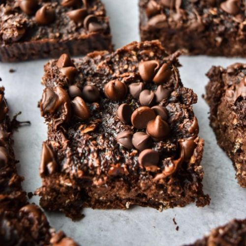 Chocolate Zucchini Oatmeal Bars