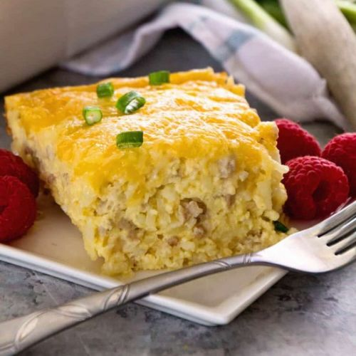 Sausage &Cheese Hashbrown Casserole