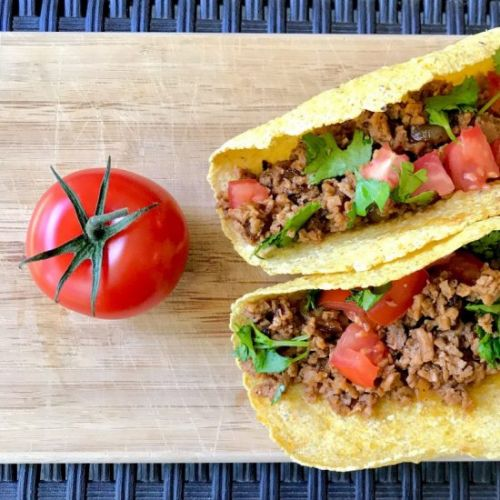 High Protein TVP Tacos