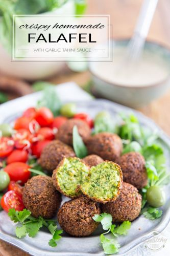 Crispy Homemade Falafel with Garlic Tahini Sauce