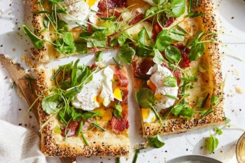 Bacon and Egg Puff Pastry Tart