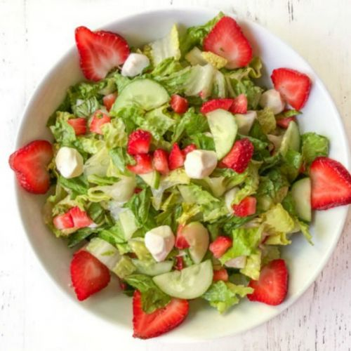 Low Carb Strawberry Caprese Salad