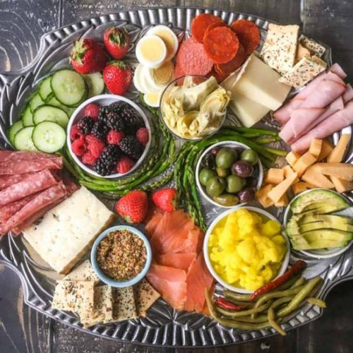 Low Carb Cheese Platter Dinner