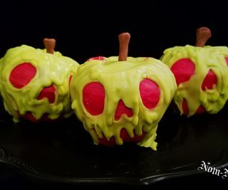 Cider Spiced Poison Apple Cupcakes