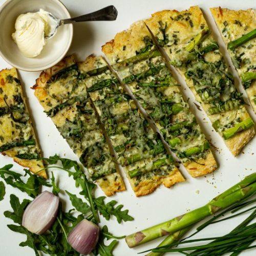 Asparagus and Arugula Flatbread
