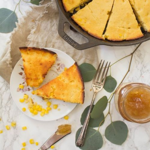 Skillet Honey Maple Cornbread
