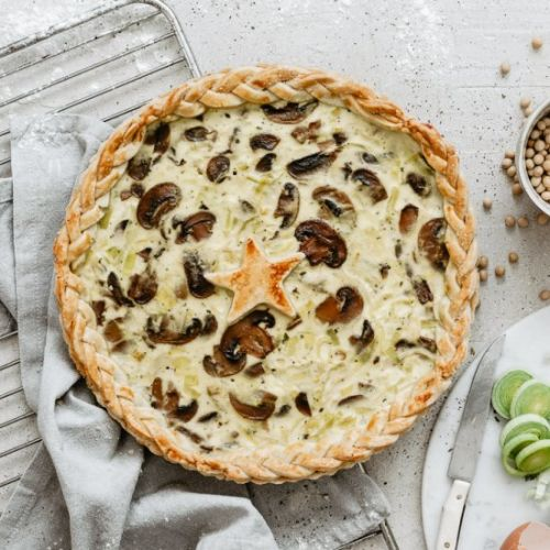 MUSHROOMS LEEK QUICHE