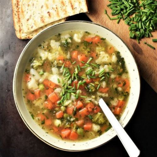 Simple Chunky Vegetable Soup