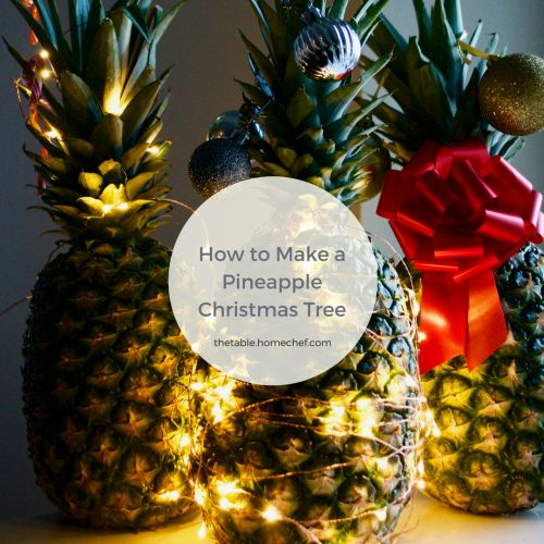 How to Make a Pineapple Christmas Tree