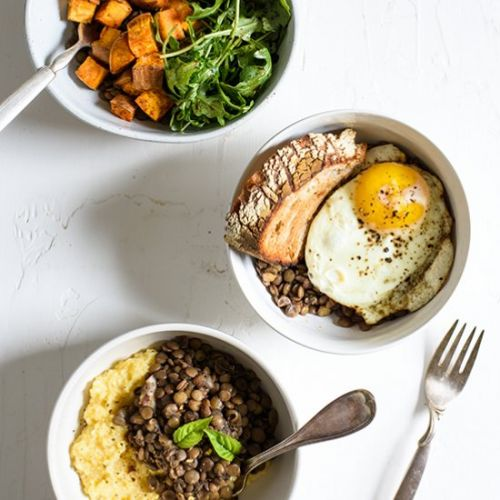 Red Wine Braised Lentils