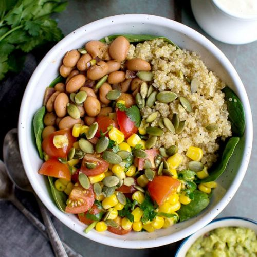 Vegan Mexican Quinoa Bowl