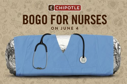 Free Burritos: Chipotle Honors Nurses with One-Day BOGO On June 4