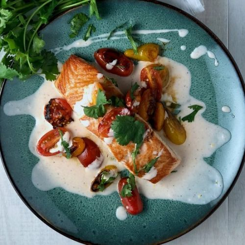 Bloody Mary Seared Salmon